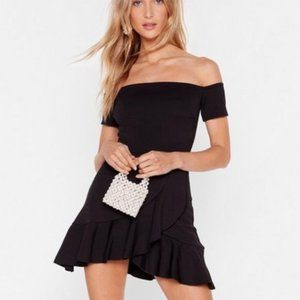 NWT Nasty Gal Show Me Off-the-Shoulder Dress